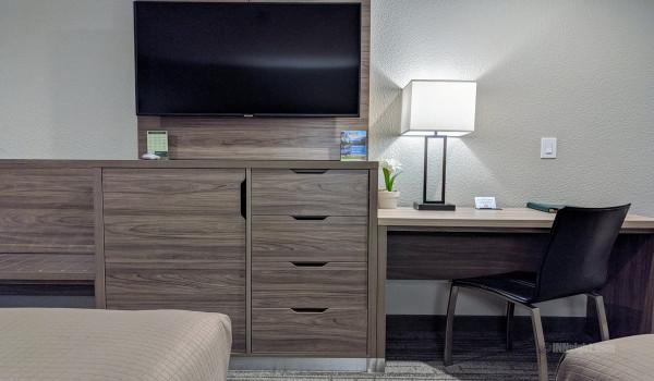 Yosemite Hotel Pictures - 50 Inch Flatscreen TV Armoire - 2 Queen Standard Guest Room
