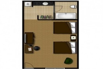 2 Queen Standard Accessible - Room Plan
